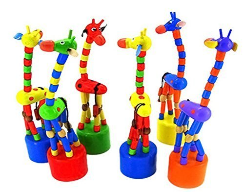 DAISY*VZU Kid Developmental Toy Dancing Rocking Standing Giraffe Wooden - Stuff Wooden Cool