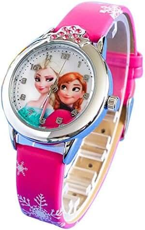 Disney Frozen children kids cartoon Watches leather Watch WP@DGWBS001M