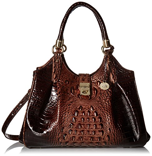 Brahmin Elisa Satchel Bag, Brunello, One Size