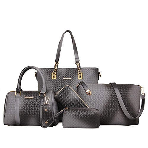 Aoligei Mujeres bolso bolso de chica femenina paquete cien moda la marea E