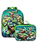 TMNT Ninja Turtles 16'' Backpack With Detachable Matching Lunch Box