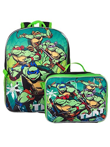 TMNT Ninja Turtles 16'' Backpack With Detachable Matching Lunch Box by Group Ruz