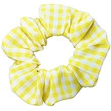 Yellow Gingham Scrunchies