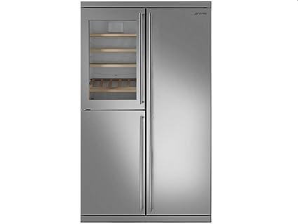 Amerikanischer Kühlschrank Smeg : Smeg side by side wein kühl gefrier kombination edelstahl