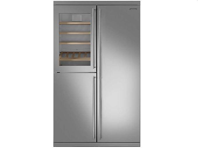 Smeg Kühlschrank French Door : Smeg side by side wein kühl gefrier kombination edelstahl