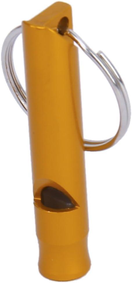 CABLEPELADO Silvato supervivencia emergencia para llavero color dorado