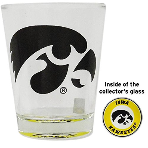 Jenkins Enterprises Iowa Hawkeyes Shot Glass with Team Logo at the - Shot Logo Team Glass