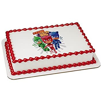 PJ Masks Its Time To Be A Hero Licensed Edible Sheet Cake Topper #44535