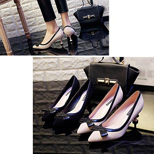 LIANGJUN High Heels Women's Shoes Spring Ankle Boots, 6 Sizes Available, 2 Colors (Color : Apricot, Size : EU37=UK5=L:235mm) Apricot