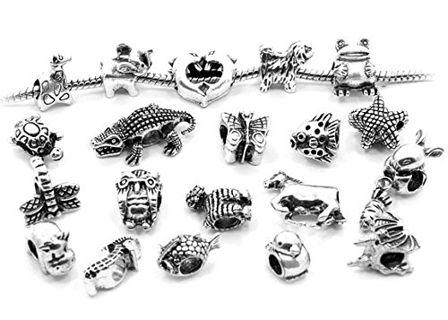Price comparison product image Pro Jewelry 10 Mixed Animals Charms for European Style Bracelets