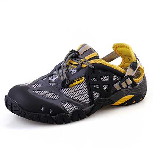 Aleader Mens Closed Toe Sport Hiking Sandals Amphibious Water Shoes Yellow 12 D(M) US