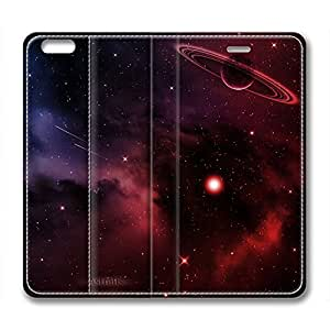DIY Galaxy Design Leather Case for Iphone 6 Plus Planet
