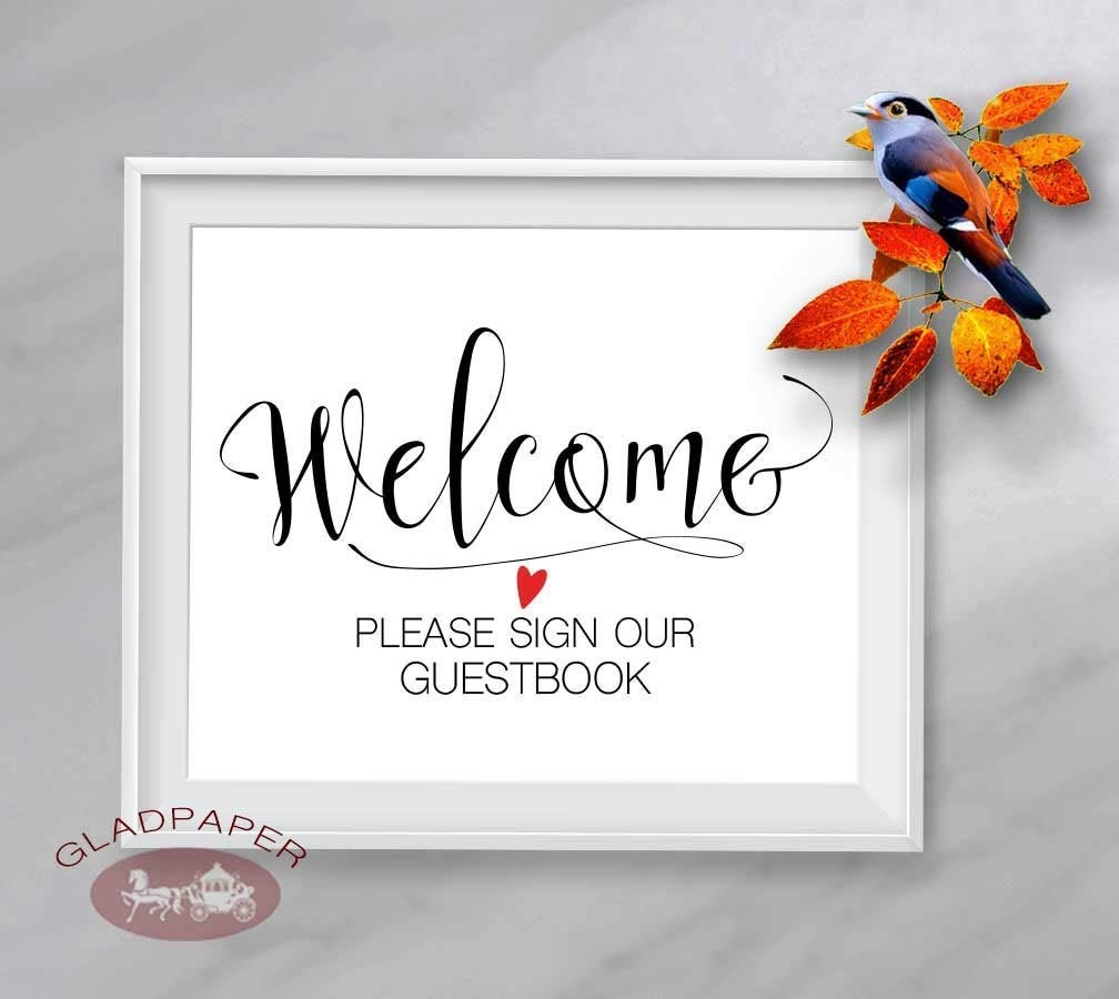 Wedding Guestbook Sign Wedding Signage PRINTABLE Wedding Signs Guestbook Sign Digital Download Wedding Decor Guest Book Sign