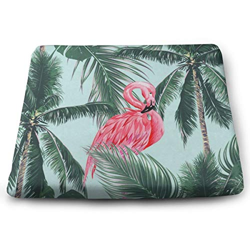 - Ladninag Seat Cushion Plam Leaves Flamingo Chair Cushion Vintage Offices Butt Chair Pads for Indoor