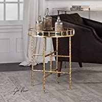 The Accent & End Tables Tilly Bright Gold Accent Table