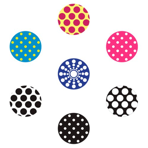 - miButton AHB00103 miButton Home Button Sticker for iPod, iPhone, & iPad - Daring Dots - 1 Pack - Charm - Retail Packaging - Daring Dots