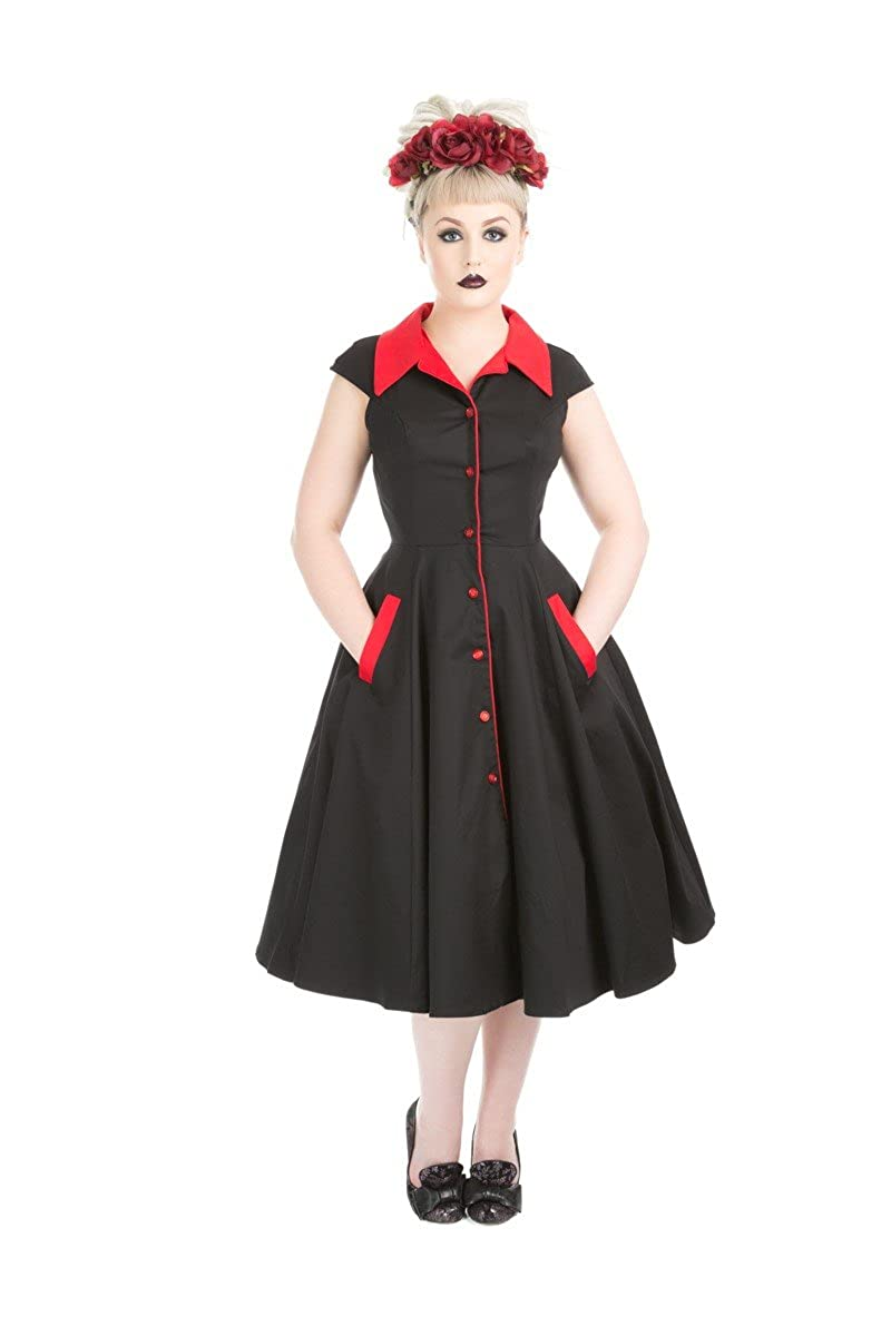 1950s Dresses, 50s Dresses | 1950s Style Dresses Hearts & Roses Diablo Swing Dress (Shipped from The US and US Sizes) $64.88 AT vintagedancer.com