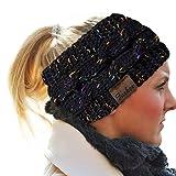 head wrap knit - Fasker Womens CC Style Confetti Winter Cable Knit Headband Head Wrap Ear Warmer