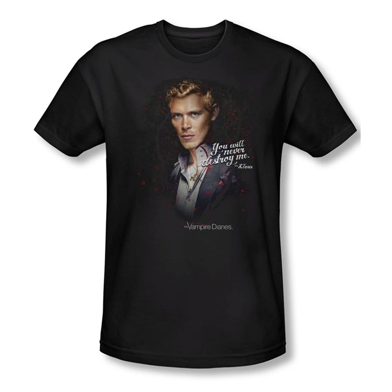 Vampire Diaries - Mens Never Destroy T-Shirt In Black