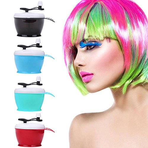 Sinwo Salon Hair Coloring Dye Bowl Mixing Bowl Color Manual Mixing Bowl Hairdressing Salon Accessory (Light blue) by Sinwo
