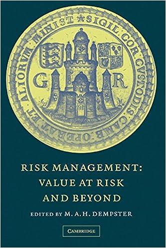 Read online Risk Management: Value at Risk and Beyond PDF, azw (Kindle)