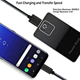 Power-7 USB Type C Cable 6Ft 2Pack Braided Long Cord USB C Fast Charger Cable for Nintendo Switch, LG G6 G5, Google Pixel/Pixel XL, Moto Z/Force/Play, ZTE Axon 7, Samsung Galaxy S8 Plus/S8+ (Black)