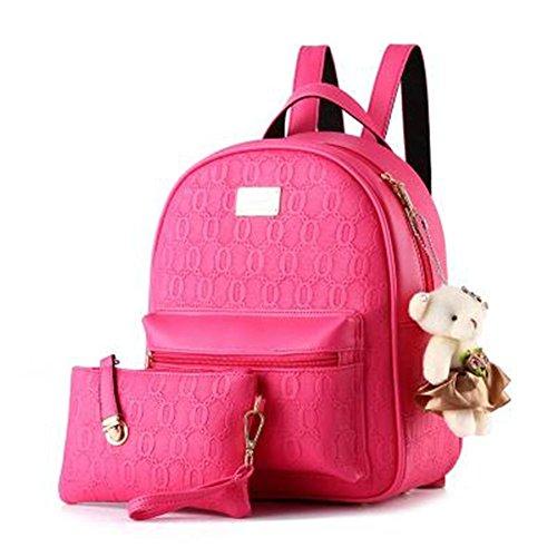TOMATO-smile - Bolso mochila  de poliuretano para mujer azul azul Rose rot