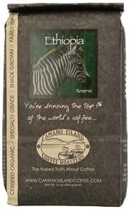 Organic Camano Island Coffee Roasters Ethiopia Supreme, Whole Bean, 16-Ounce Bags (Pack of 3)