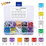 140 Pcs Car Fuses Mini Blade Car Fuses Assorted 2A 3A 5A 7.5A 10A 15A 20A 25A 30A 40A