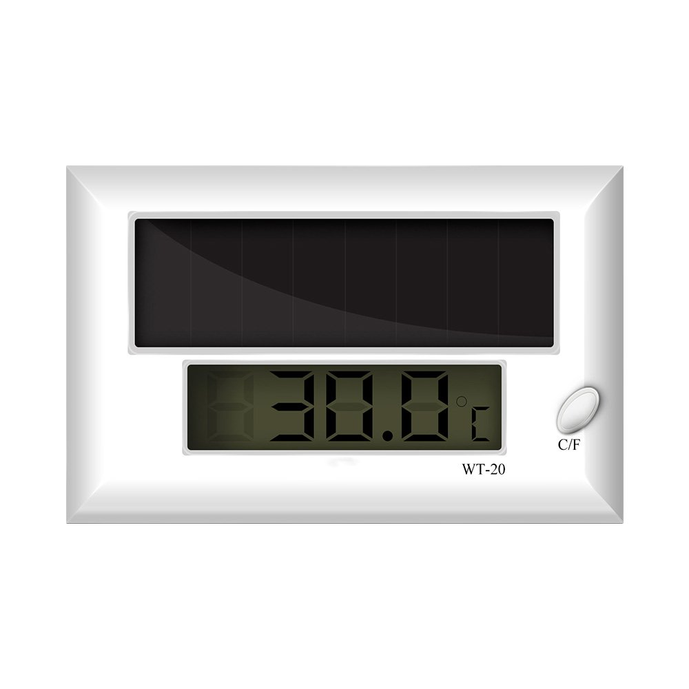 hygger Self-adhersive Aquarium Thermometer, LCD Solar Fish Tank Digital Thermostat, Repitle Thermostat
