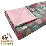 Guinea Pig Fleece Cage Liner for Midwest Habitat | Guinea Pig Bedding | Guinea Pig Fleece | Paw Prints