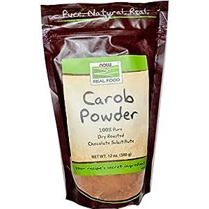 Carob Powder, Dry Roasted, 12 oz, NOW Foods