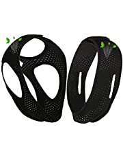 LDFZC Black Anti Snoring Chin Strap, Sleep aid,adjustable and breathable, anti-snoring artifact, suitable for snorers of any age 2pcs