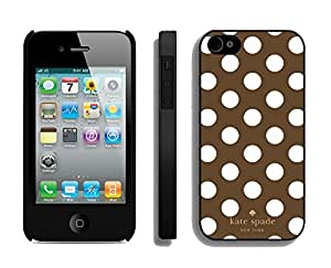 Customize iPhone 4s Protective Skin Kate Spade New York Durable iPhone 4 4s Phone Case 290 Black
