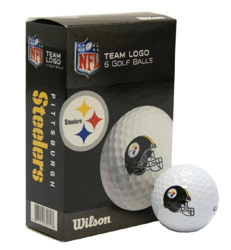 NFL Pittsburgh Steelers Golf Ball, Pack of 6 ()