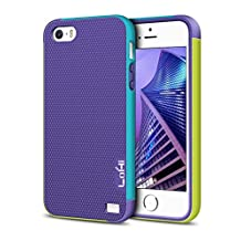 Lohi iPhone 5S case, used Soft TUP & Hard PC material, equipped with [ 1.2mm EXTRA LIPS ] screen Anti-Scratch Structure & Non-Slip Texture Surface Design, fit for iPhone 5 / 5S and iPhone SE .[LIFTTIME WARRENTY]