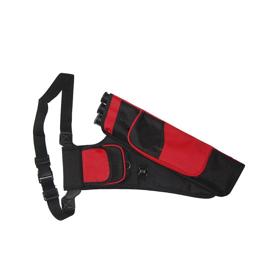 Objetivo de tiro con arco carcaj ajustable con 3tubos flecha Pot, cintura cadera Hanged aljaba para flechas caza entrenamiento deportes al aire libre, camouflage