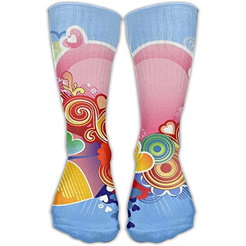 Velantines Day Unisex Tube Socks Crew Over The Calf Soccer Comfort Stockings For Sport And - Velantine Day