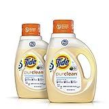 Tide Purclean Liquid Laundry Detergent, Unscented, 100 Fl Oz (64 Loads)