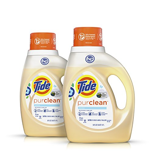 Tide Purclean Plant-based Laundry Detergent, Unscented, 2x50 oz., 64 loads
