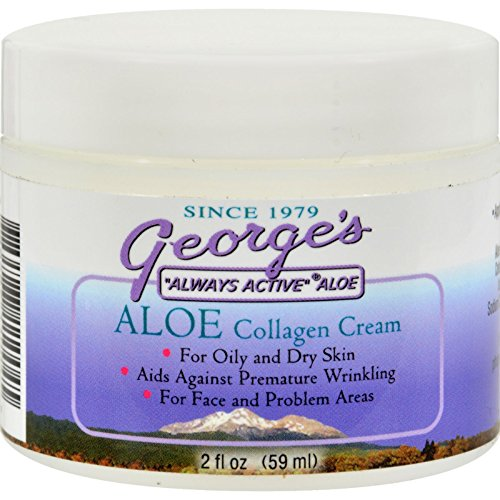 (Georges Aloe Vera Collagen Cream - Aids Against Premature Wrinkling - 2 oz (Pack of 2) )