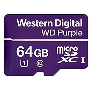 Western Digital WDD064G1P0A WD Purple 64GB Surveillance microSD Card