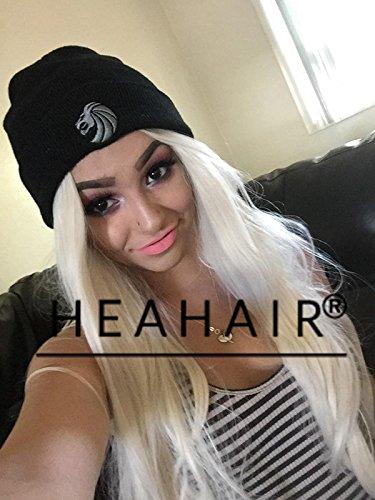 heahair® de alta calidad Sexy rubia Natural recto encaje sintético peluca delantera para mujer