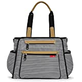 Skip Hop Baby Grand Central Take-it-All Diaper Bag, Black Stripe