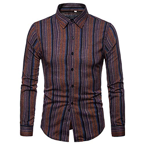 Con s Lunghe camicia Stampato Floreale l 2 m A Uomo elegante Lunghe Ujunaor Nero xl Risvolti Maniche slim xxl fit Camicie 0qxgvw6