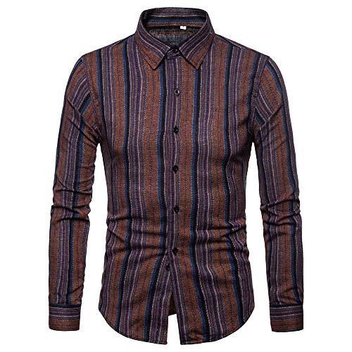 Shirts with Button-Down Collar Standard-Fit Long-Sleeve Autumn Winter Patchwork Fastener Sweatshirts Top Blouse Men (XXL,16- Black) -