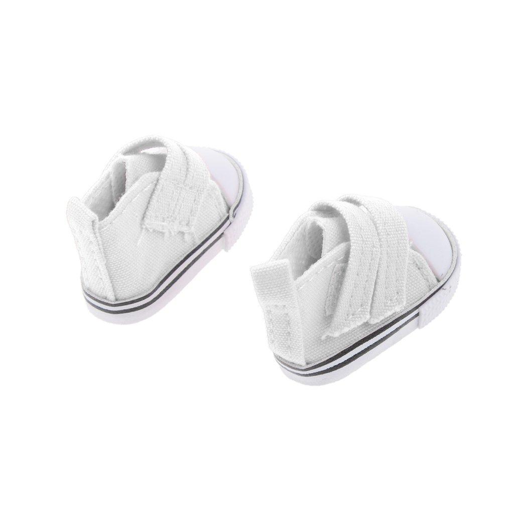 MagiDeal Poup/ée Filles Chaussures en Toile Plates Sneakers Sport Pour 1//6 BJD Dollfie DZ AS AE BG DD Dolls Accs #2