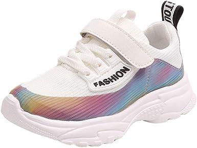 YanHoo Niños pequeños Deportes para niños Zapatillas de Deporte para niños Zapatillas de Malla con Estampado de niños Niños Transpirables para niños PU + Flying Zapatos para Tejer: Amazon.es: Ropa y accesorios