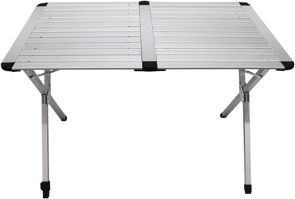 Mesa de camping plegable de aluminio con bolsa de transporte Homecall