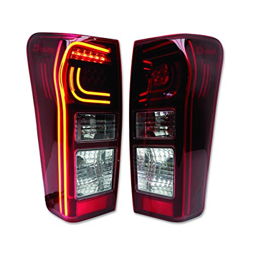 Powerwarauto Fitt Red Tail Lamp Light LED For Isuzu Holden D-Max Dmax 4WD 2WD 4x4 4x2 UTE Truck PickUp 2012 2013 2014 2015 2016 2017 2018